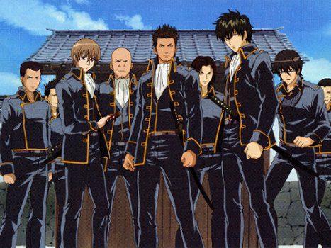 """La Shinsengumi, rivista nell'anime """"Gintama"""""""