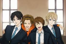 Le protagoniste dell'anime in versione maschile, fanart