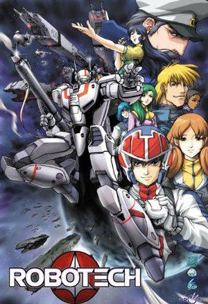 - cover di Robotech (immagine fatta dalla Harmony Goldcon i vari personaggi presi dalla 3 serie originali) -