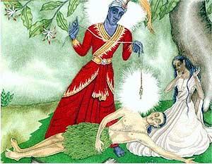 - Yama s'impadronisce dello spirito di Satyavan -