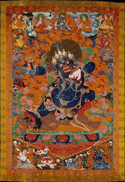 Raffigurazione di Yama proveniente dal Tibet, XVII-XVIII secolo